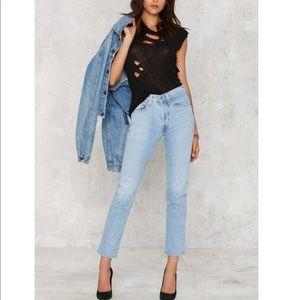 Vintage Levi's 514 Light Wash Slim Straight Jeans